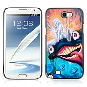 Designer Depo Hard Protection Case for Samsung Galaxy Note 2 N7100 / Psychedelic Colorful Monsters