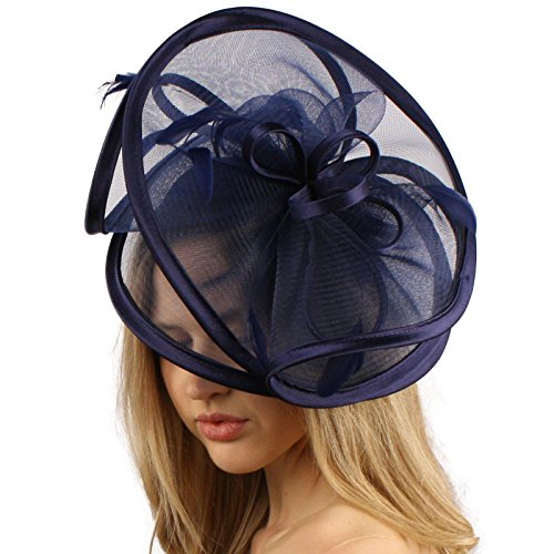 Feathers 3 Tier Layer 2 Tone Headband Fascinator Millinery Cocktail Hat Solid (Occasion Hats For Women)