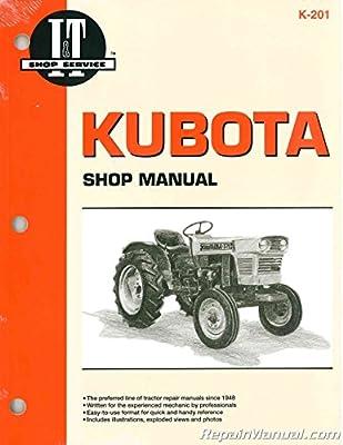 K-201 Kubota Tractor Manual L175 L210 L225 L225DT L260 ...