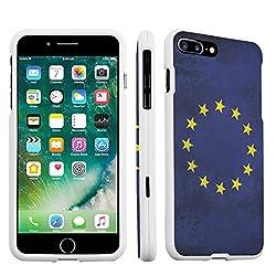 Iphone 7 Plus Case Durocase Hard Case White For Apple Iphone 7 Plus Released In 2016 European Flag