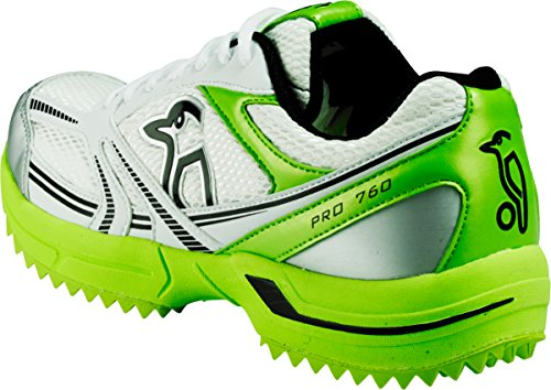 Cricket Shoes KOOKABURRA Pro 760 Gummisohle - Leicht Durable Performance Schuhe Grün Blau Lime Green - Weiß