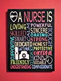 Nurse Sign Wall Decor Gift Painted Canvas