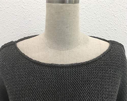 Sweatshirt Maglione Maniche Oversize camicetta Casuale lunghe ZiXing Donna Autunno Pullover Grigio jumper Z0wOqTc7x