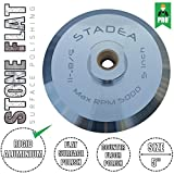 "Stadea ABP103Q 5 Inch Hook and Loop Backing Pad With Rigid Aluminium Velcro Backing, 5/8"" 11 Brass Arbor"
