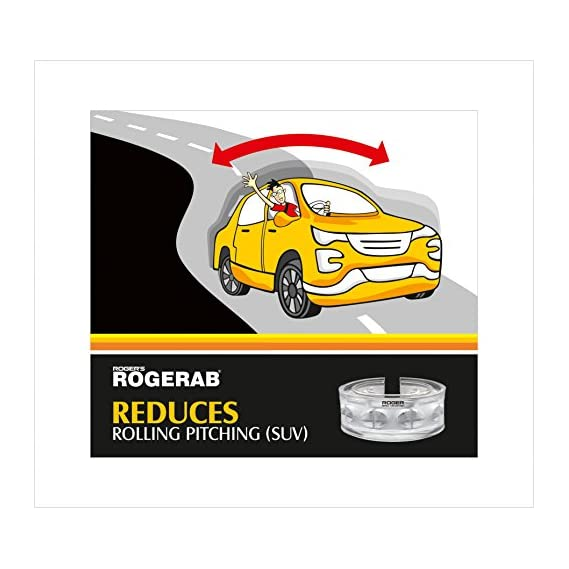 ROGER Toyota Fortuner (Model 2016 & Above) Rogerab Car Suspension TPU Buffer For Reducing Rolling-Pitching - 4 Pieces