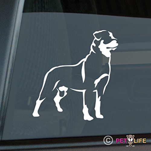 Rottweiler Sticker Vinyl Auto Window rotty rott rottie Mister Petlife PD-0296