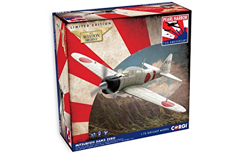 Corgi Mitsubishi A6M2 Zero Pearl Harbor Diecast Aviation Archive Model Replica by Corgi (Image #2)