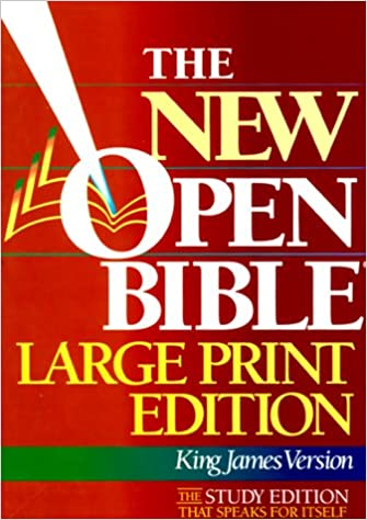 Holy Bible the New Open Bible: King James Version, Large