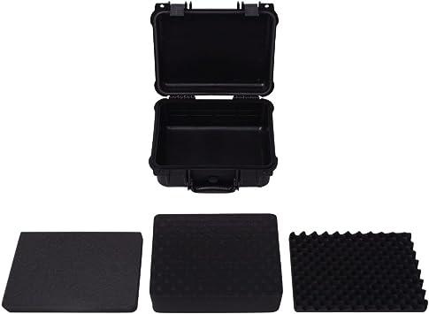 Vislone Bo/îte de Protection Valise /à Outils Compl/ète pour Equipement Noir 35 x 29,5 x 15 cm