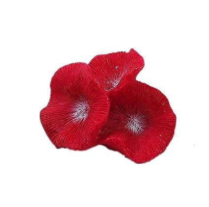 Xinjiener Ornamento Coralino del Arrecife Artificial del Mini Acuario para la Decoración del Paisaje del Acuario