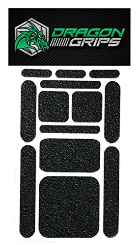 Non Slip Grip Tape Decal Textured Rubber Grip Sticky Stickers Black 13 Piece for iPhone Grip case Cell Laptop ipad Tablet ()