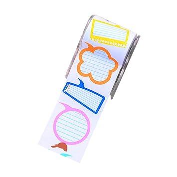 80 piezas de rollo Notas autoadhesivas con Dispensador de cinta pegajosa de la nota Tabs Adhesivos para casa de estilo Oficina 1: Amazon.es: Hogar