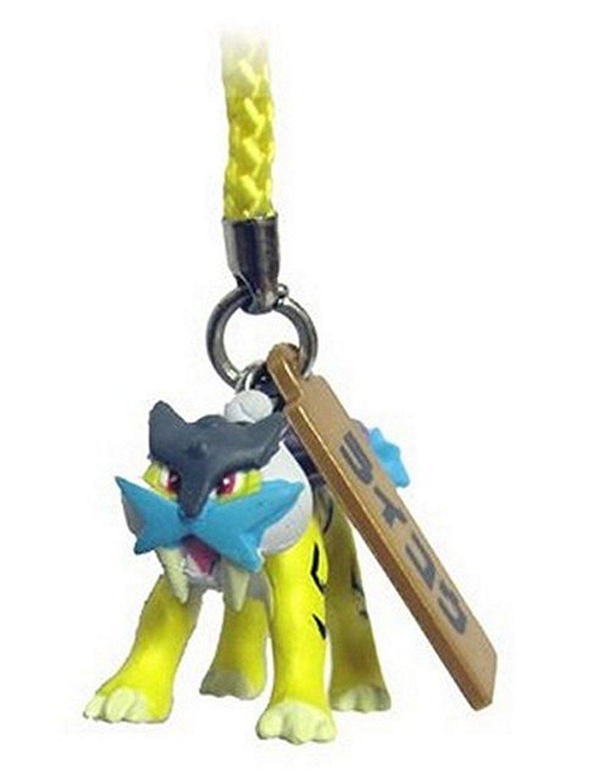 "Takara Tomy Pokemon Gashapon Figure Phone Charm & Strap 2010 Vol. 2-Raikou Aprox 1.25"""