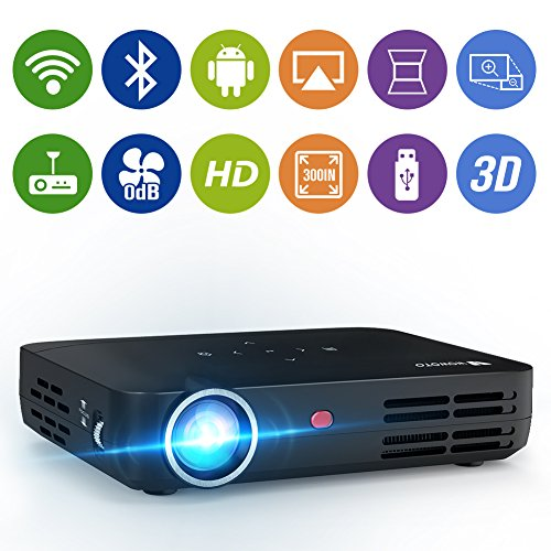 WOWOTO H8 Video Projector DLP LED Full HD 3D Support 1080P Android OS...