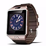 DZ09 smart watch latest card Bluetooth support Android Apple system, watch mobile phone Android smart mobile phone watch (Gold)