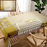 Unique Custom Design Cotton And Linen Blend Tablecloth Colorful Interior Of Nursery Frontal View D Render Pictures In Frames Was Painted In PhotoTablecovers For Rectangle Tables, Large Size 86'' x 55''
