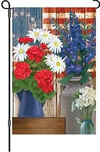 Premier cometas 12in jardín bandera–patrióticas flores