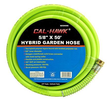 Cal Hawk Tools BZGH50G Hybrid Garden Hose by Cal Hawk Tools