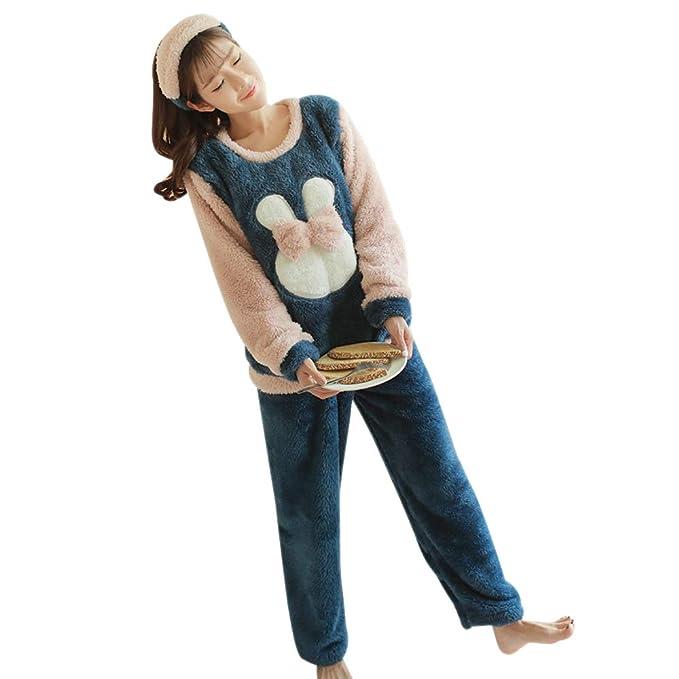 597ed27dc BOZEVON Mujer Embarazada Pijama de Lactancia Invierno Ropa - Un Juego de  Blusas Casuales con Patrón
