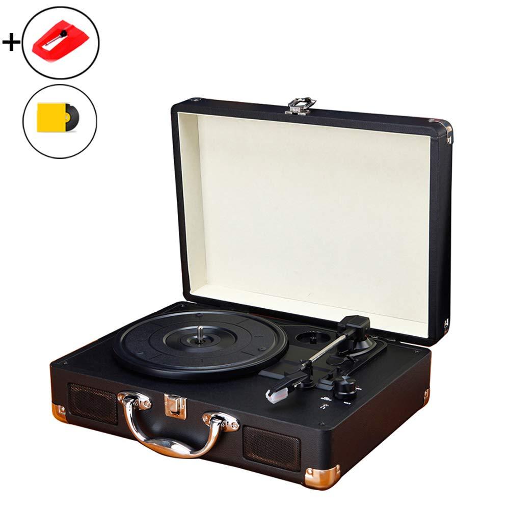XIOUTEW Tocadiscos portátil, Registro de Vinilo Reproductor de ...