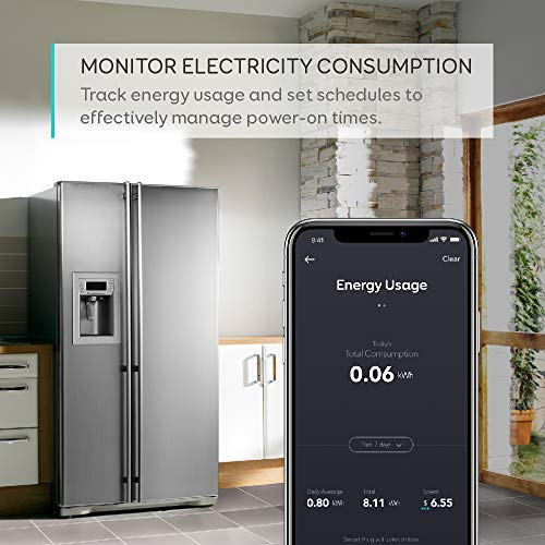 [Energy Monitoring] eufy Smart Plug by Anker, No Hub Required, Works With Amazon Alexa and the Google Assistant, Wi-Fi Enabled, White, Set Schedules, Countdown Timer, Control Remotely, Away Mode by eufy (Image #2)