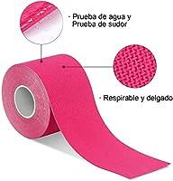 Cinta Kinesiología, cinta de soporte, rollo de 5m x 5cm, elástico ...