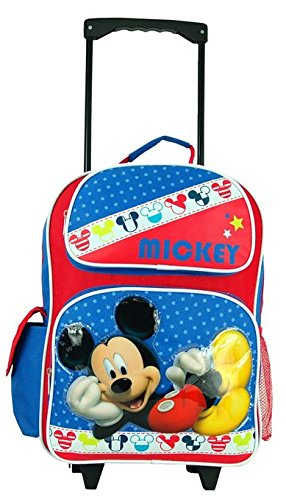 0efa1e9ccb6 Image Unavailable. Image not available for. Color  Disney Mickey Mouse Large  16 quot  Rolling Backpack.