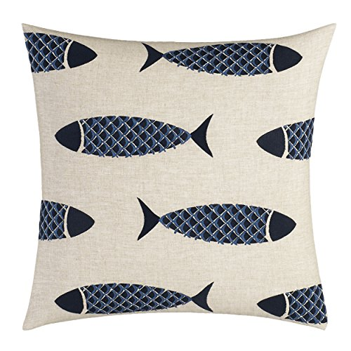 Nautica Lockridge Embroidered Fish Throw Pillow, 18-inch