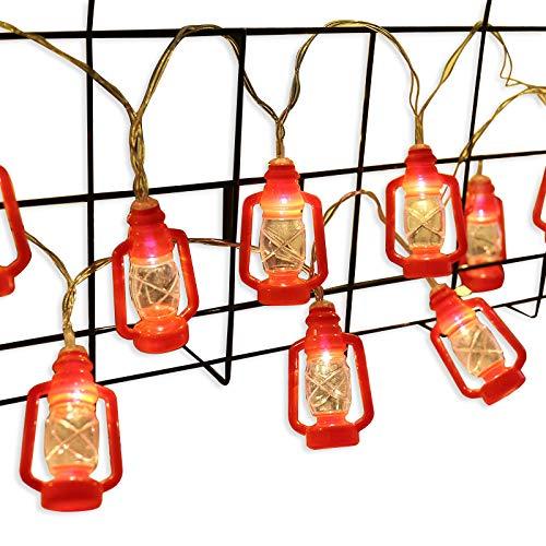 AceList ZONYEO Red Kerosene String Lights for Camping,