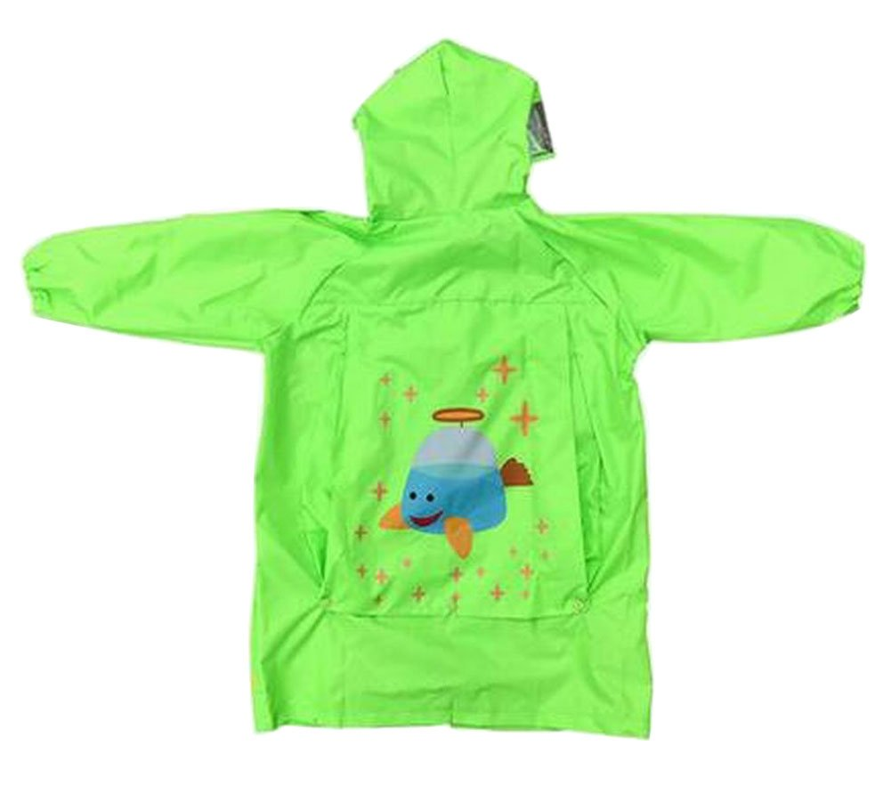 Lovely Children Raincoat Kids Rainwear Rain Jacket for Student Spaceship