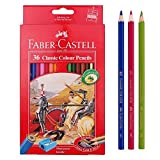 Faber Castell Classic Color Pencils 36 Color School,eco Pencil for Professionals Include Classic