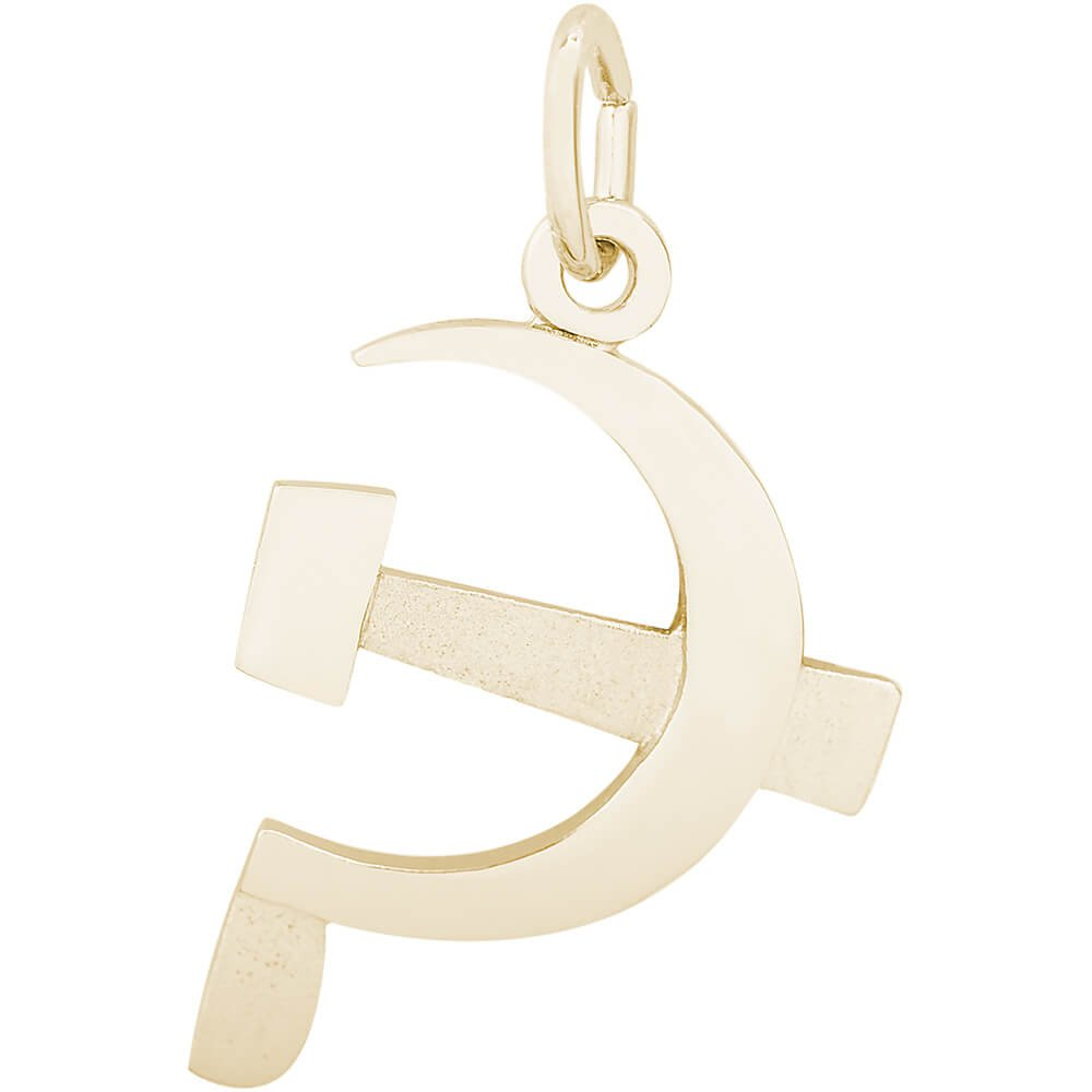 Rembrandt Charms 10K Yellow Gold Hammer & Sickle Charm (0.77 x 0.61 inches)