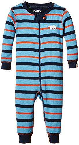 Hatley Baby Boys' Sleepy Romper, Sailing Stripes, 3-6 Months - Hatley Blue Stripes