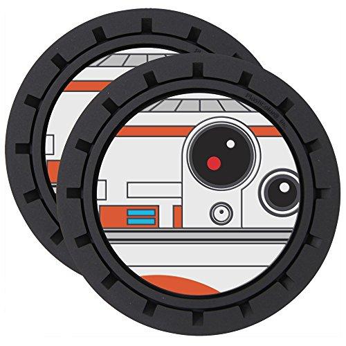 - BB-8 Robot Star Wars Lucasfilm LTD Disney Auto Car Truck SUV Vehicle Beverage Coaster - 2 Pack