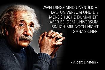 Blechschild 30 x 20 cm   Albert Einstein Spruch