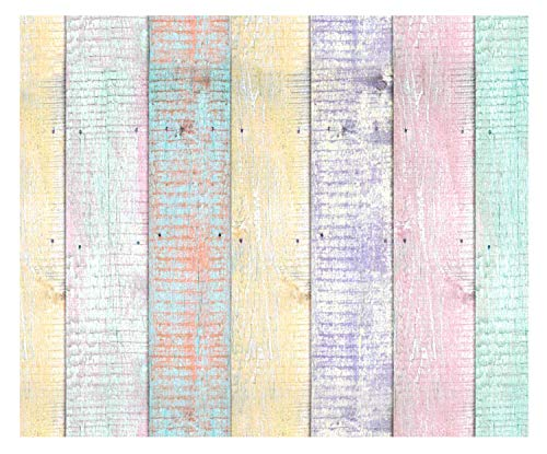 Ursus 127222125 Wooden Pastel Photo Card 10 Sheets Cardboard 300 g/m² Approx. 49.5 x 68 cm, Made of Fresh Cellulose, Printed on Both Sides, Colourful
