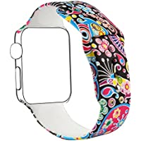 Blesihu Replacement Band for Apple Watch, Strap Bands for iwatch, Silicone Sport Style Wristband, Personalized...