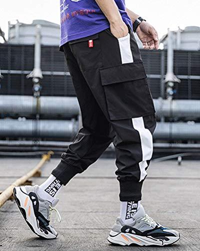 ORANDESIGNE Homme Pantalon Casual Cargo Chino Sport Jogging Pantalon Slim Fit Pantalon Jogging Bas de Survêtement Hip…
