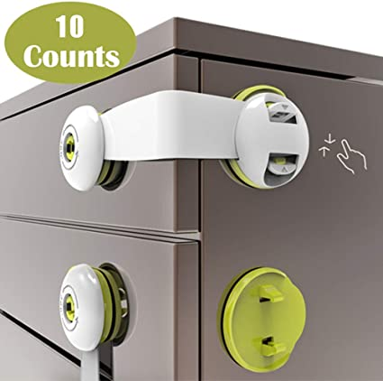 10x Child Baby Safety Lock for Child Proofing Cabinet Cupboard Baby Gate Draw
