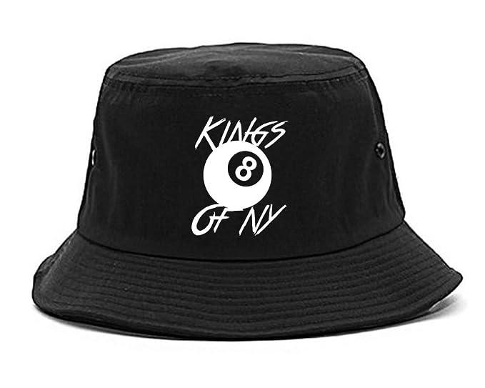 f170038e08a Kings Of NY 8 Ball Chest Logo Eight Mens Bucket Hat Black  Amazon.ca ...