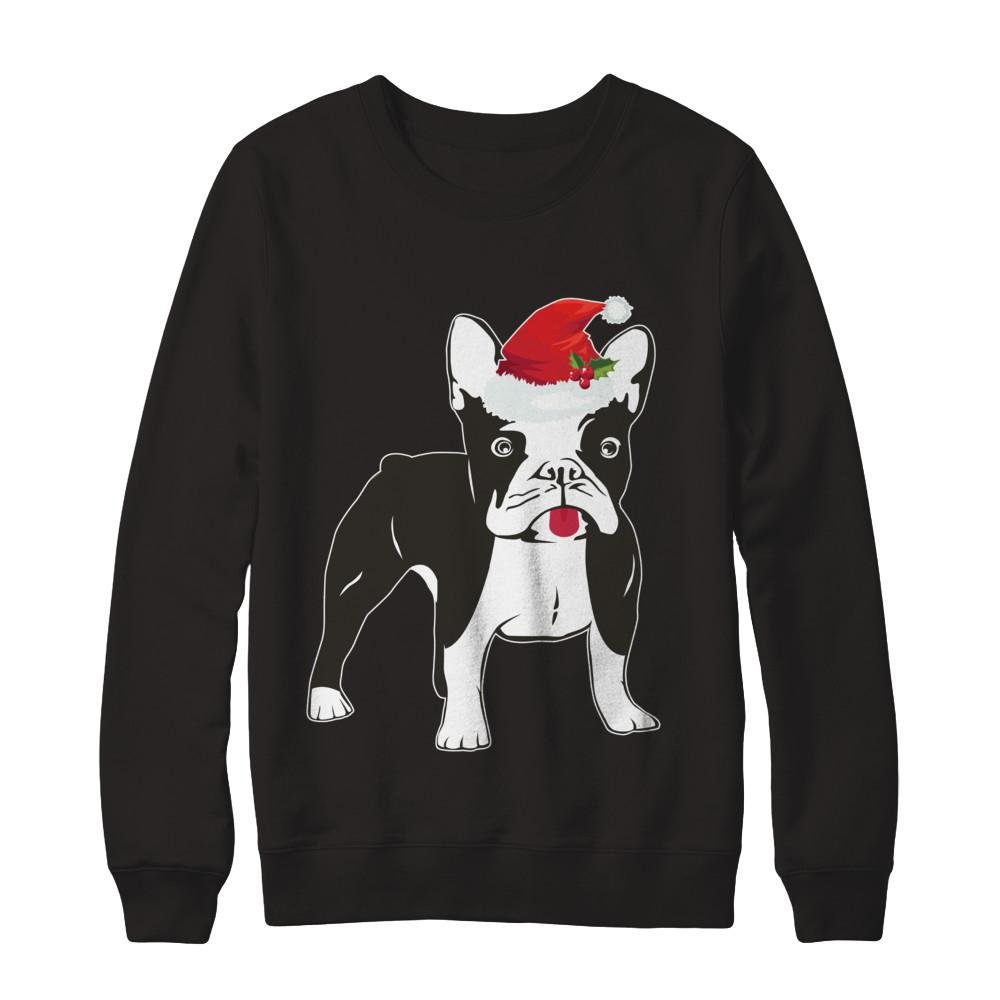 Pullover Sweatshirt Teely Shop Mens Funny Boston Terrier Christmas Gildan