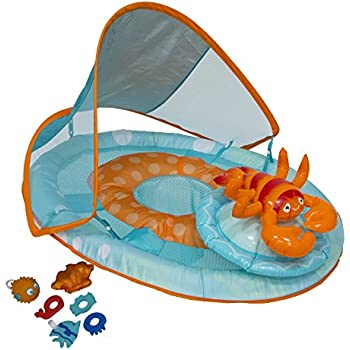 SwimWays Baby Spring Float Activity Center with Canopy - Lobster