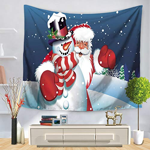 Claus Tapestry - Santa Claus Pattern Tapestry Wall Hanging Indian Wall Decor Hippie Tapestries