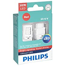 Philips 3157 Ultinon LED Bulb (Red), 2 Pack