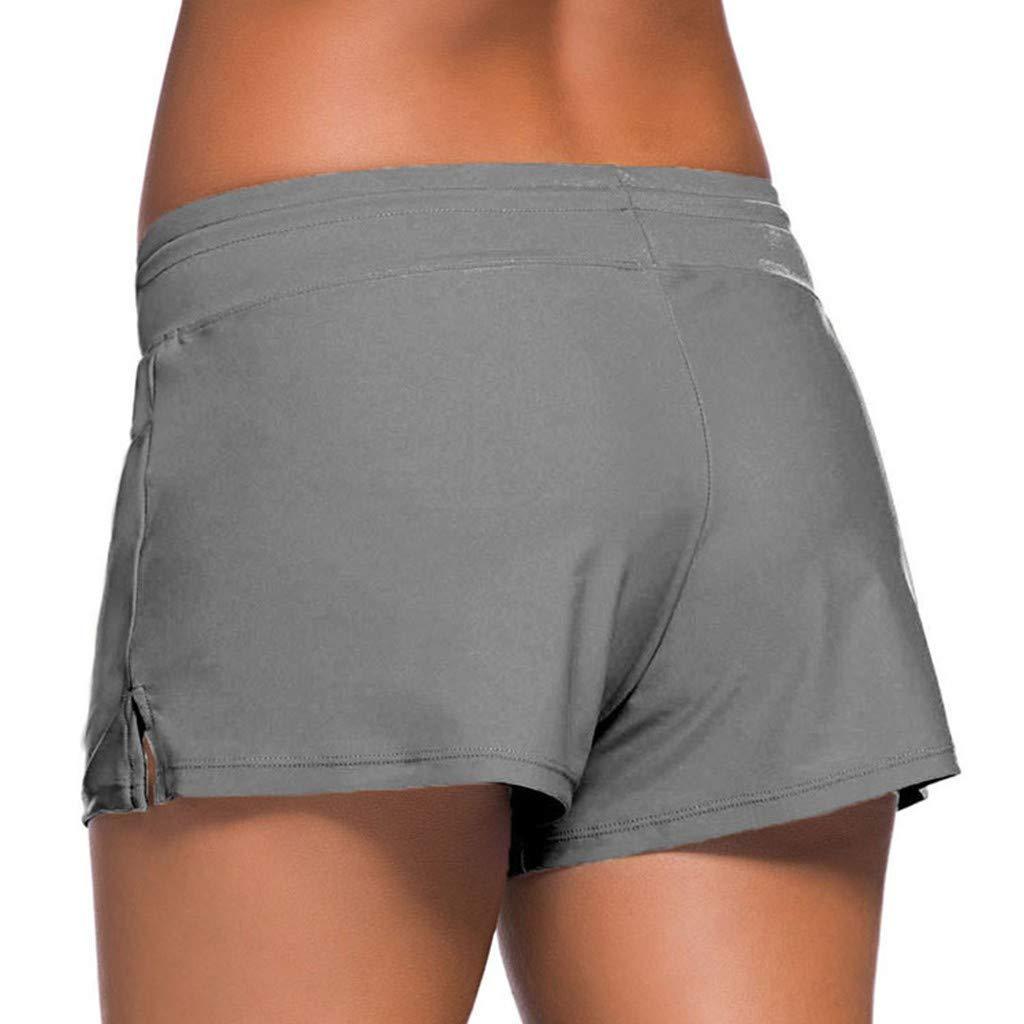 SPORTTIN Women Swimsuit Shorts Tankini Swim Briefs Plus Size Bottom Boardshort Summer Beach Trunks