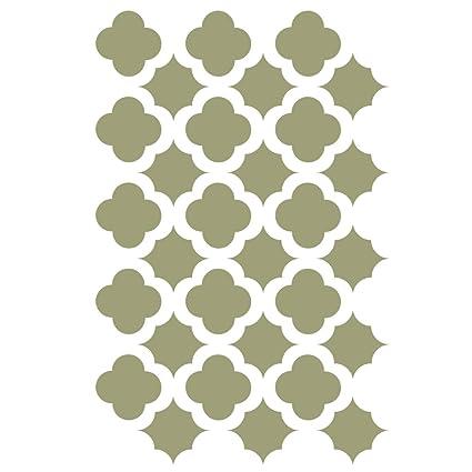 Amazon.com: J BOUTIQUE STENCILS Moroccan Trellis Tile Stencils ...