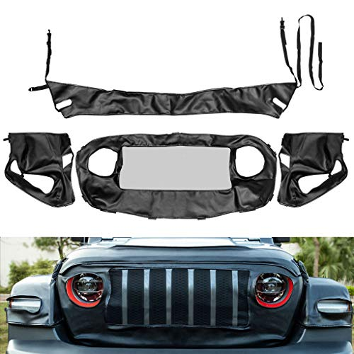 Royalo Front End Grille/Hood/Fender Flares Cover Bra Protector Kit for Jeep Wrangler JL & Gladiator JT 2018-2020