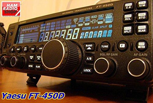 - Yaesu Original FT-450D HF/50MHz Compact Amateur Base Transceiver - 100 Watts, IF DSP Technology