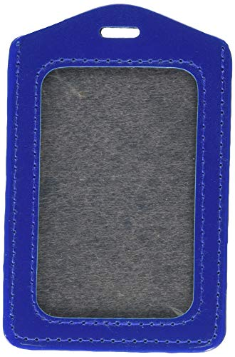 Uxcell a12050700ux1086 Office School Faux Leather Vertical Name Card ID Badge Holder Pouch (Pack of 10)