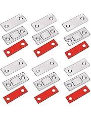 Ímãs para porta de armário, pacote com 6 fechamentos magnéticos ultrafinos para porta de correr, fecho, armário de cozinha, armário, armário